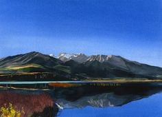 Eva Bartel, Morning, Talbot Lake, Jasper, watercolor
