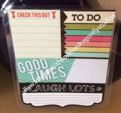 Check This Out/To Do List Dashboard for Erin Condren and Plum Paper planners