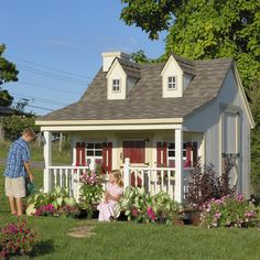 Little Cottage 11 x 8 Pennfield Cottage Wood Playhouse - Outdoor Playhouses at Hayneedle