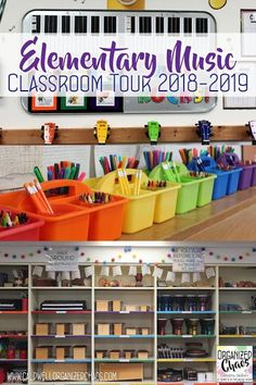 Elementary Music Classroom Tour 20182019 is part of Music Classroom Organization - Elementary Music Classroom Tour 20182019 Organized Chaos Music Room Organization, Classroom Organization, Classroom Decor, Classroom Teacher, Classroom Behavior, Science Classroom, Kindergarten Classroom, Organization Ideas, Elementary Music Lessons