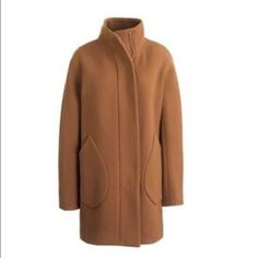 Double Cloth Patch Pocket Cocoon Coat