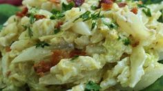 Cabbage, bacon, and sour cream make a delicious creamy, savory side dish.