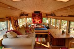 Couple turn a school bus into a tiny house in 10 days. Description from pinterest.com. I searched for this on bing.com/images
