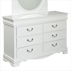 Standard Furniture Jessica 8 Drawer Dresser in Clean White - 94209 - Lowest price online on all Standard Furniture Jessica 8 Drawer Dresser in Clean White - 94209