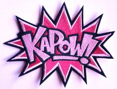Large Iron On Embroidered Patch Super Hero by ElsieMichelleDesigns