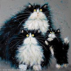 'Purrenthood' print.  Cat art by Kim Haskins