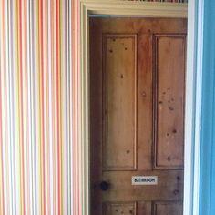Hallway stripes and a new talent added to my husbands portfolio!