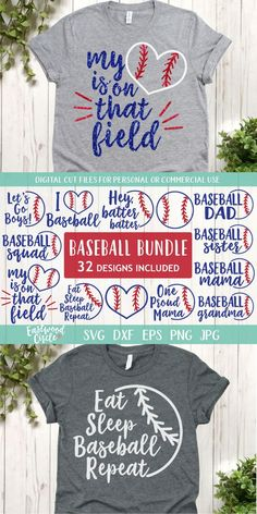 This baseball SVG file works great with the Cricut and Silhouette Cameo for crafters to make DIY projects such as shirts, signs, mugs, and more! Works great with heat transfer vinyl. Free commercial license included. #cricut #silhouettecameo #cutfiles #svg #svgcutfile #svgfile #htv #heattransfervinyl #cricutprojects