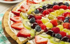 The Best Fruit Pizza Recipe Made From Scratch!   World Recipe Collection