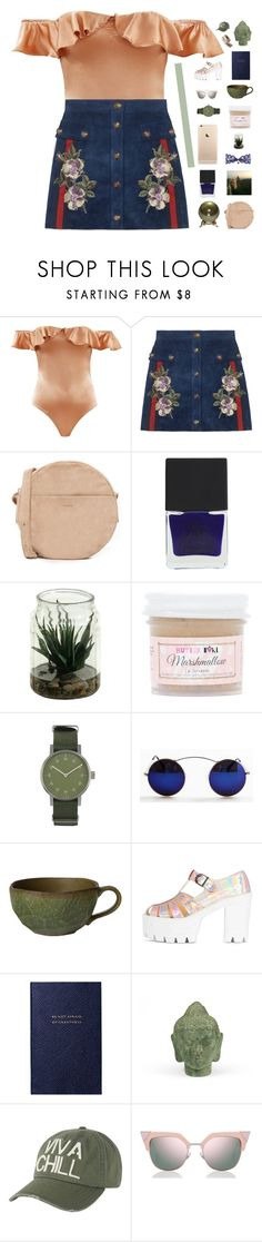 """♡ the sad truth's i want no one unless that someone's you"" by nervous-touch ❤ liked on Polyvore featuring Gucci, BAGGU, 3 Concept Eyes, Sugar Milk Co, Void, Smythson, Puji, Billabong, Fendi and Joomi Lim"