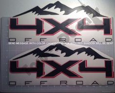 4x4 MOUNTAIN OFFROAD accessory Vinyl Decal Truck fits Ford F150 F250 F350