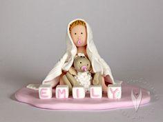 Baby Tortenfigur für die Taufe, Tauftorte oder als Geschenk zur Geburt Toddler Bed, Baby, Home Decor, Homemade Home Decor, Newborn Babies, Infant, Baby Baby, Doll, Babies
