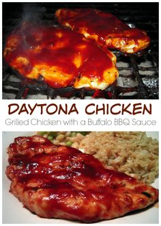 Daytona Chicken - grilled chicken topped with a Buffalo BBQ sauce