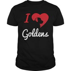 Get yours cool I Love Goldens NEW SHIRT Shirts & Hoodies.  #gift, #idea, #photo, #image, #hoodie, #shirt, #christmas