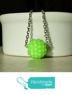 Green Neon Sparkling Berry Bead Chain Necklace / Kandi from DonkeyandtheUnicorn http://www.amazon.com/dp/B0180VEX0I/ref=hnd_sw_r_pi_dp_fnmswb1J2AK8F #handmadeatamazon