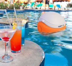 "This Bluetooth speaker is waterproof... and it floats! Can you say ""pool party""??"