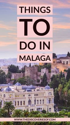 Time to travel to Malaga, Spain! Delicious food, awesome things to do and gorgeous photography spots. What to do, where to eat and where to stay on your Malaga trip. Spain Travel Guide, Europe Travel Tips, Travel Guides, Travel Destinations, Holiday Destinations, Budget Travel, European Destination, European Travel, Universal Orlando