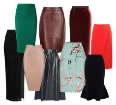 A fashion look from March 2018 featuring cotton pencil skirt, maxi skirts and pencil skirts. Browse and shop related looks. Roland Mouret, Karen Millen, Reiss, Helmut Lang, Warehouse, Joseph, Shoe Bag, Polyvore, Stuff To Buy