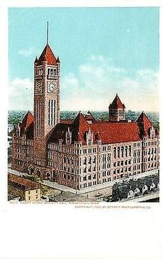 Minneapolis Minnesota MN 1905 Hennepin County Court House City Hall Postcard