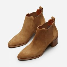 // $225 //    The Suede Heel Boot     // About Everlane //  • Radical Transparency  • Stringent workplace compliancy  • Reveals true costs, and their markup