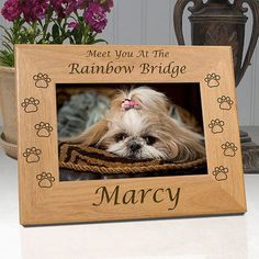 "Personalized Memorial Pet Frame ""Meet You At The Rainbow Bridge"""