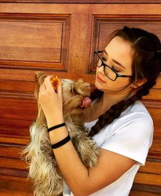 Animal #dog #animal #cute #braids #glasses #flower #silly