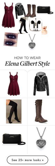 """Old Elena Gilbert Inspired"" by brebre2003 on Polyvore featuring moda, New Look, UGG Australia, Hue, Kate Spade, PhunkeeTree e Jeffree Star"