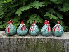 Ceramic chickens