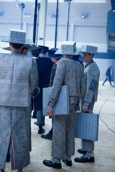Thom Browne A/W 13 structural form creating a specific silhouette along with textiles this informs the concept behind the collection