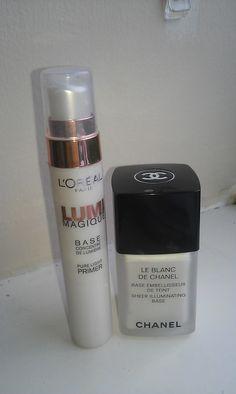 Make-Up Anonymous - Chanel Sheer Illumination Base v L'Oreal Lumi Magique Pure Light Primer