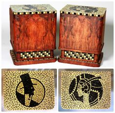 Art deco nightstands in Vharleston style rekredenc. Retro Furniture, Upcycled Furniture, Art Deco Home, Mosaic Designs, Upcycled Vintage, Art Deco Design, Cabinet Design, Art Deco Fashion, Furniture Makeover