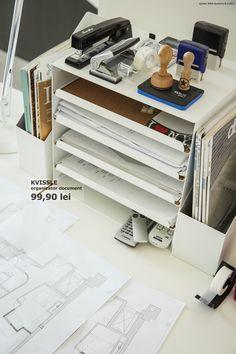 35 Trendy Home Office Small Storage Desks Small Storage Cabinet, Desk Storage, Storage Cabinets, Home Office Space, Home Office Design, Diy Tisch, Diy Kitchen Shelves, Letter Tray, Bedroom Organization Diy