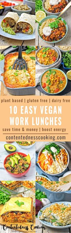 Beat the rush to unhealthy lunch places and make one of these 10 Best Easy Vegan Work Lunch Recipes! So delicious, healthy, and easy to make. Take something good along with you for work, or you kids for school lunches.