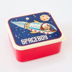 Lunch box enfant space invasion boy cosmonaute vente accessoires et objets décoration enfants : My Little Bazar.