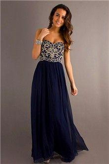A-Line/Princess Sweetheart Floor-length Chiffon Prom Dress