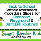 Back to School Procedures Slides for Classroom, Playground and Dismissal