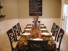 thanksgiving and a great dining room