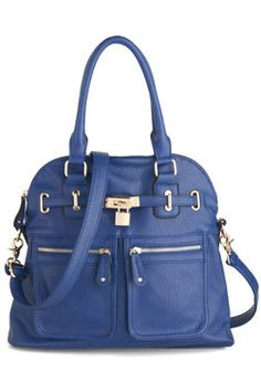 Girl with Curves Bag in Cobalt, #ModCloth
