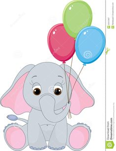 Illustration about Cute baby elephant with colorful balloons. Illustration of colorful, graphic, clip - 25312467 Elephant Balloon, Cute Baby Elephant, Elephant Illustration, Colourful Balloons, Morning Greeting, String Art, Cute Babies, Punch, Nursery