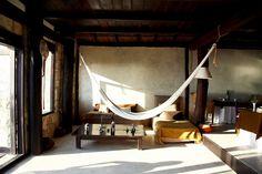 25 Indoor Hammocks Design Ideas Tulum Hotels, Beach Hotels, Luxury Hotels, Indoor Hammock, Relax, Tulum Mexico, Mexico City, Bedroom Hammock, Hammock Bed