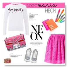 """""""Logomania!"""" by viola279 ❤ liked on Polyvore featuring MSGM, Kenzo, Moschino, Alexander McQueen, Sharpie and Kate Spade"""