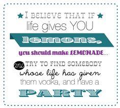 true story. who has vodka?