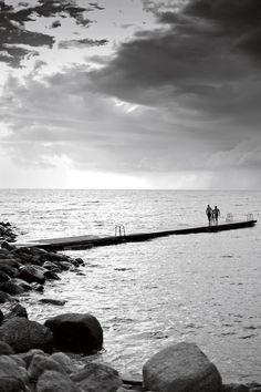 The swimming jetty in Visby, Sweden. Photo: Ken Kochey