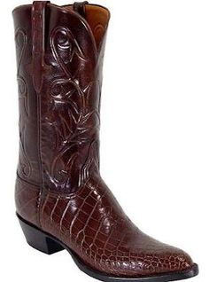 Alligator Lucchese Classics - - Your choice of Toe and Heel, 2 Scallop Hand Cord Roma, Kennedy Pullstraps with Presidential Overlay Sock Shoes, Men's Shoes, Alligator Boots, Everyday Shoes, Designer Boots, Cool Boots, Fashion Shoes, Men's Fashion, Western Boots