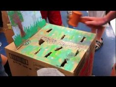 Love this Whack-a-Mole game created by students at the Arcola Elementary Cardboard Arcade!
