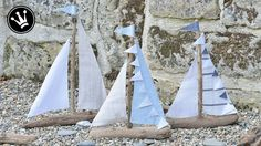 Just extend the holiday season a bit, with this driftwood sailboat … - Craft Ideas Home Decor Signs, Cheap Home Decor, Diy And Crafts, Paper Crafts, Tabletop Fountain, Driftwood Crafts, Diy Décoration, White Decor, Pebble Art