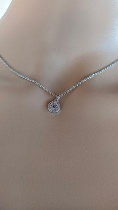 Pendentif oeil  cubic zirconia en acier pour femme Baby Jewelry, Handmade Jewelry, Evil Eye Jewelry, Diamond, Bracelets, Lobster Clasp, Stainless Steel, Eyes, Pendant