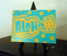 Aloha Original Acrylic Painting on an Unframed 5 x by RobKramerArt, $50.00