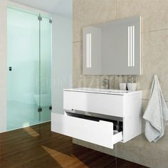 white bathroom furniture, ORISTO #Meble #lazienkowe #lazienka