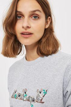 Koala Embroidered Sweatshirt by Tee & Cake
